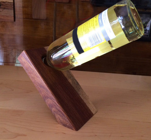'Magic' wine bottle holder large- KIAAT WOOD