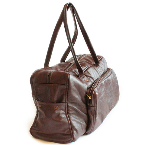 Lock Stock 100% Genuine leather duffel bag - Maroon