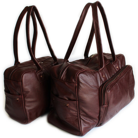 Lock Stock Co. 100% Genuine Soft Leather Bags - Maroon BagTravel COMBO