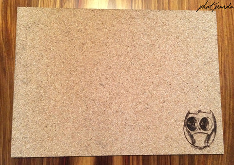 Cork placemats - Owl
