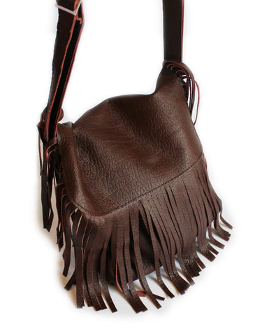 Leather Tasstle sling bag - Churchill rust