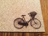 Cork placemats - Vintage Bicycle
