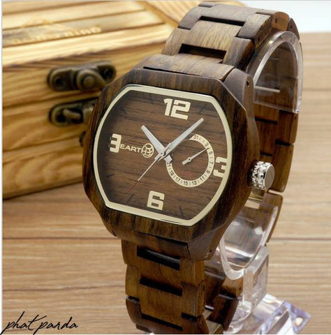Earth wood watch - Zebra