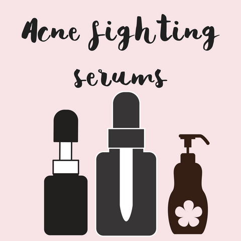 Natural organic acne clearing serums