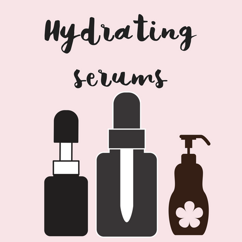 Natural and organic hydrating face serums