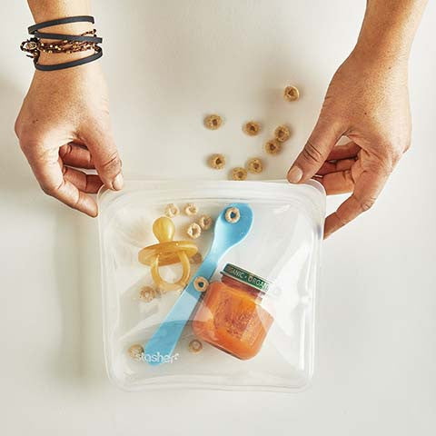 Stasher silicone reusable food bags
