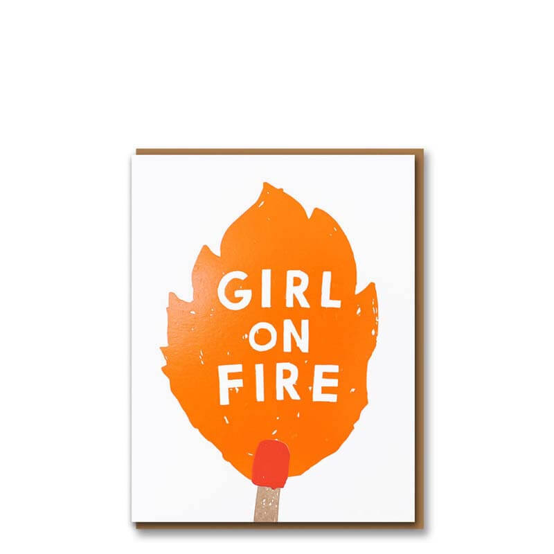 1973 WOW! Girl On Fire Card