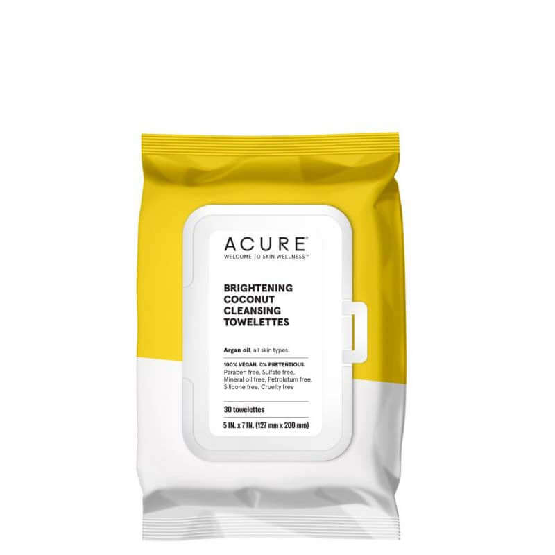 ACURE Brightening Coconut Cleansing Towelettes online at Natural Supply Co