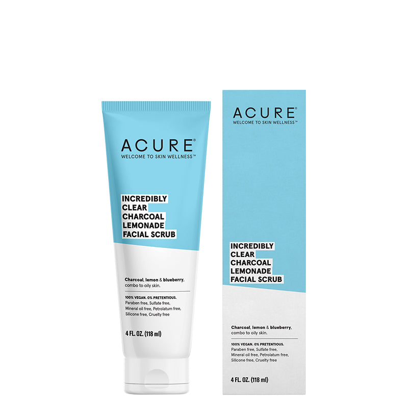 ACURE Incredibly Clear Charcoal Lemonade Facial Scrub - Natural Supply Co