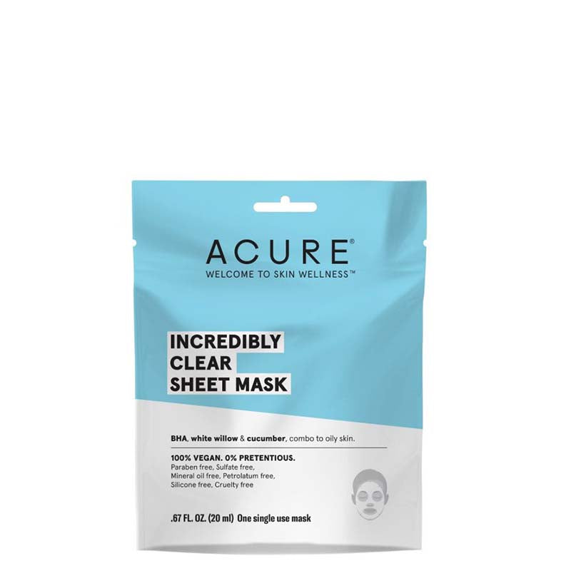 ACURE Incredibly Clear Sheet Mask - Natural Supply Co