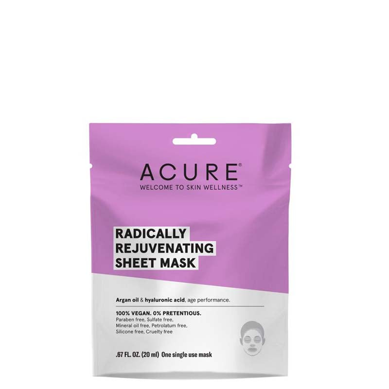 ACURE Radically Rejuvenating Sheet Mask online at Natural Supply Co