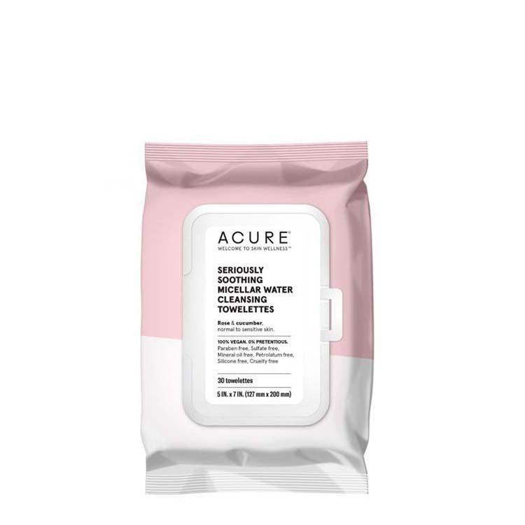 ACURE Seriously Soothing Micellar Water Towelettes online at Natural Supply Co