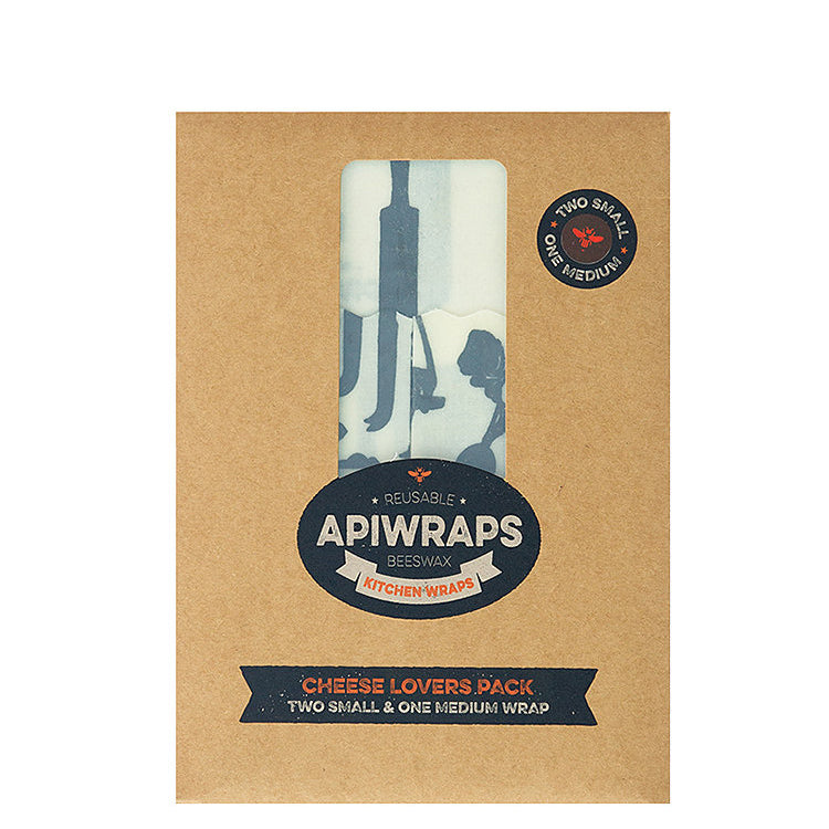Apiwraps Reusable Beeswax Kitchen Wrap - Cheese Lovers at Natural Supply Co