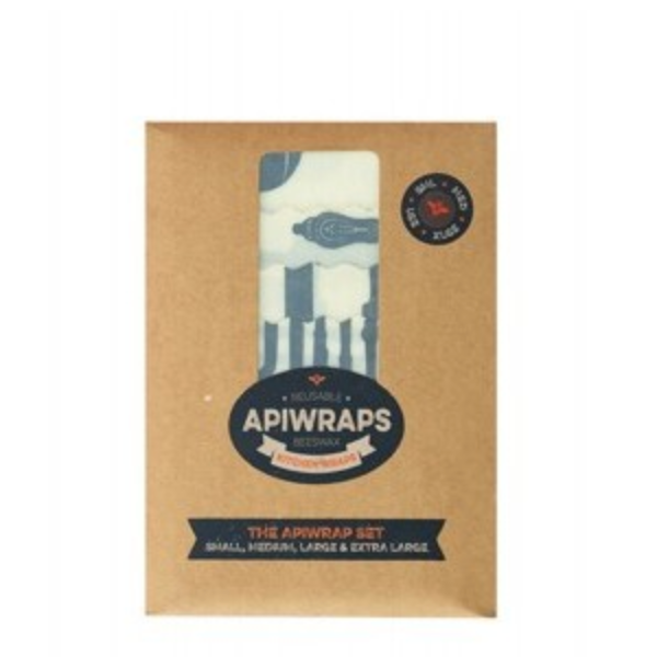 Apiwraps Reusable Beeswax Kitchen Wrap - The Apiwraps Set - Natural Supply Co