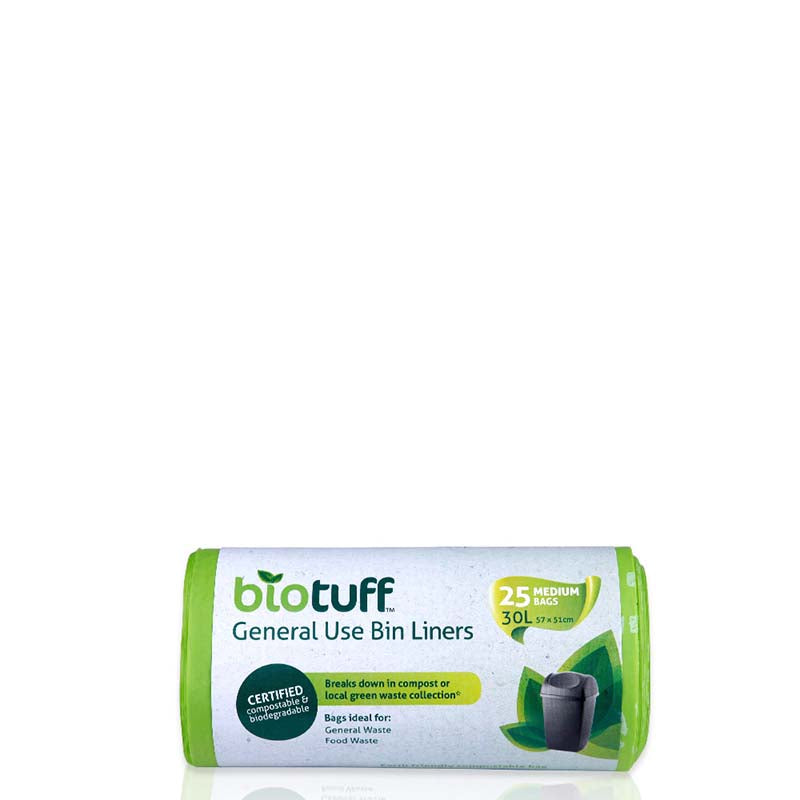 BIOTUFF General Use Bin Liner - MEDIUM 30L - Natural Supply Co