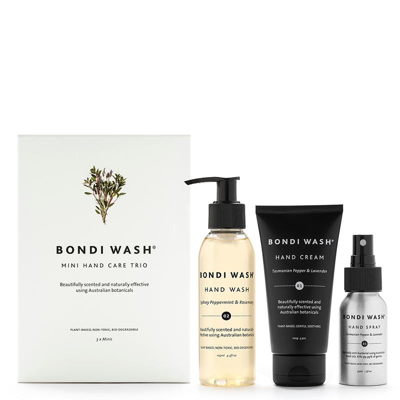 Bondi Wash Mini Hand Care Gift Pack Trio at Natural Supply Co
