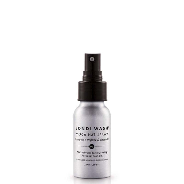 Bondi Wash Mini Yoga Mat Spray - Tasmanian Pepper & Lavender at Natural Supply Co
