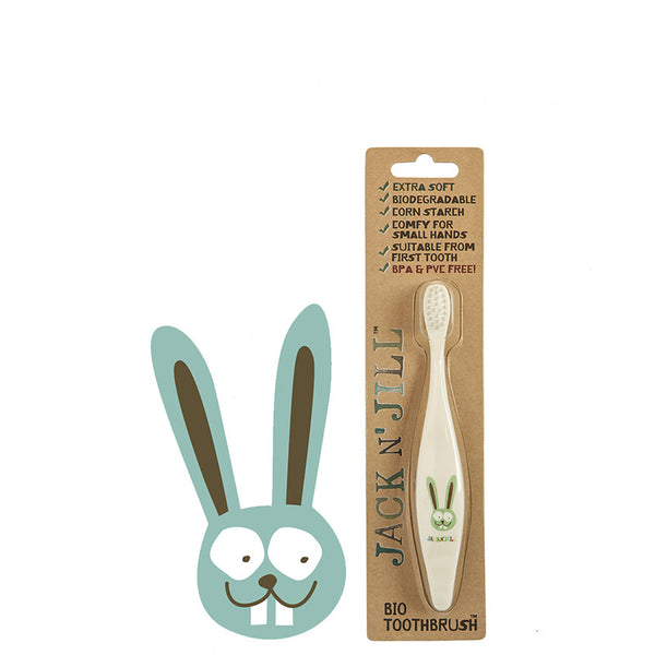Jack N' Jill Natural Kids' Toothbrush - Bunny at Natural Supply Co