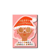 Carolyn Suzuki Die-Cut Christmas Party Girl Card