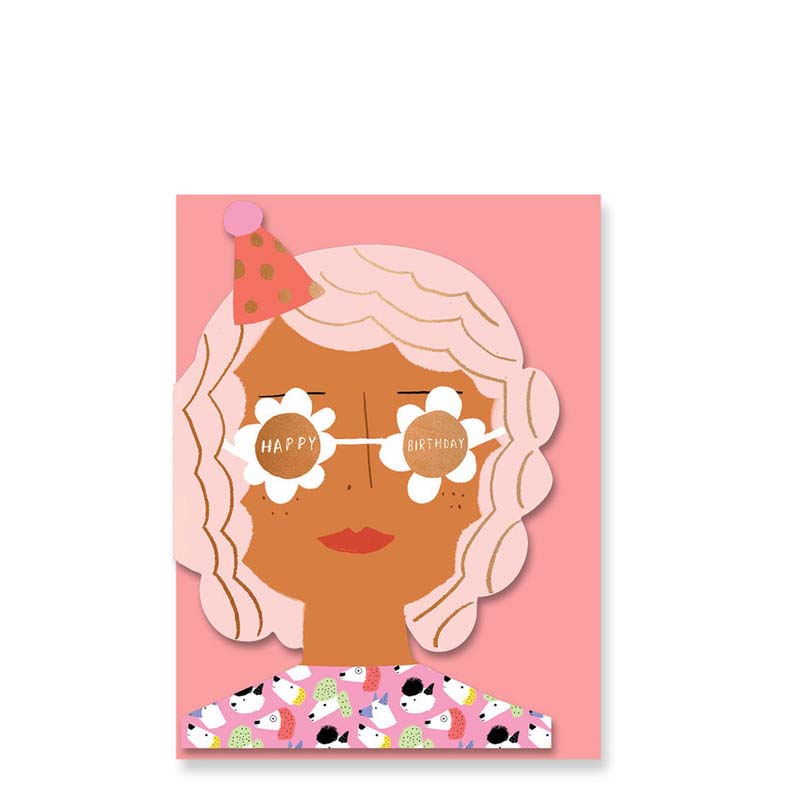Carolyn Suzuki Happy Birthday Party Girl Card