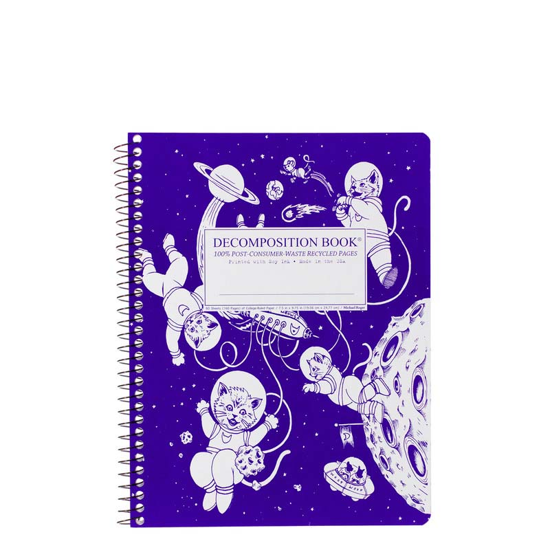 Decomposition Book Spiral Large Notebook - Kittens in Space