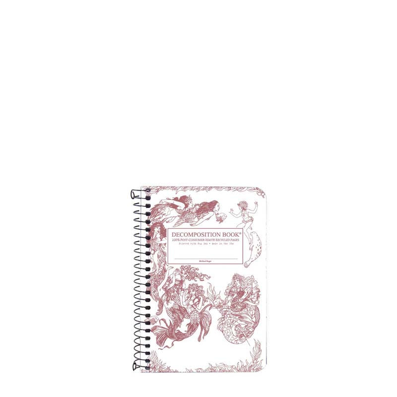 Decomposition Book Spiral Pocket Notebook - Mermaid