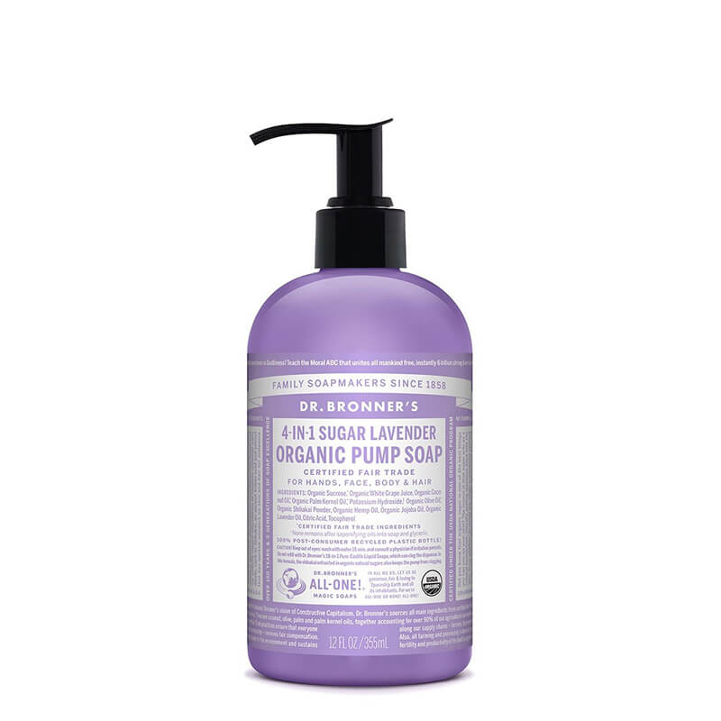 Dr Bronner's 4-in-1 Sugar Organic Pump Soap - Lavender