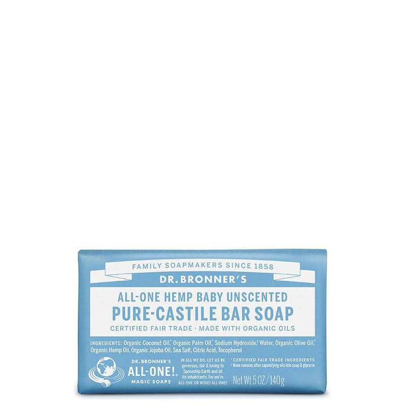 Dr Bronner's Magic Pure-Castile Bar Soap - Baby Unscented