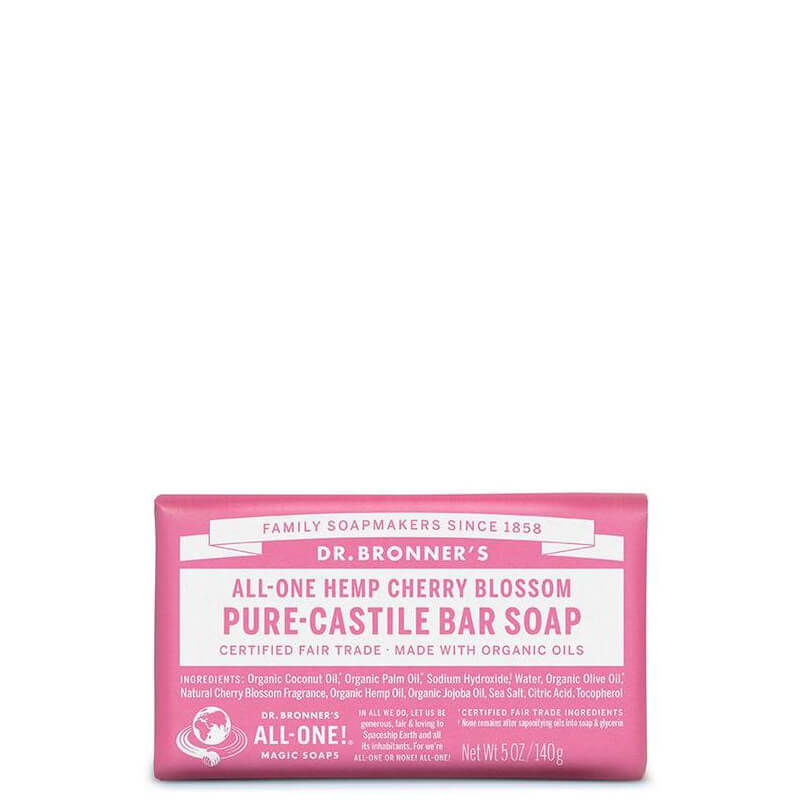Dr Bronner's Magic Pure-Castile Bar Soap - Cherry Blossom