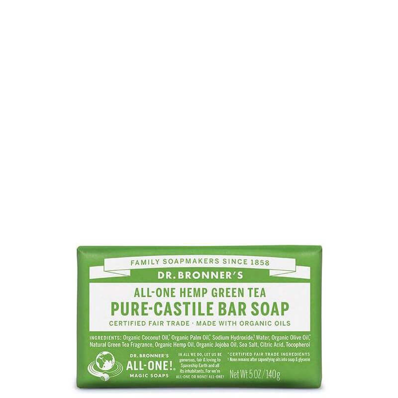 Dr Bronner's Magic Pure-Castile Bar Soap - Green Tea