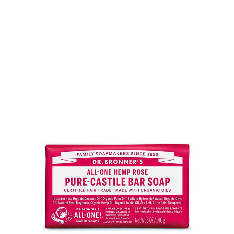 Dr Bronner's Magic Pure-Castile Bar Soap - Rose