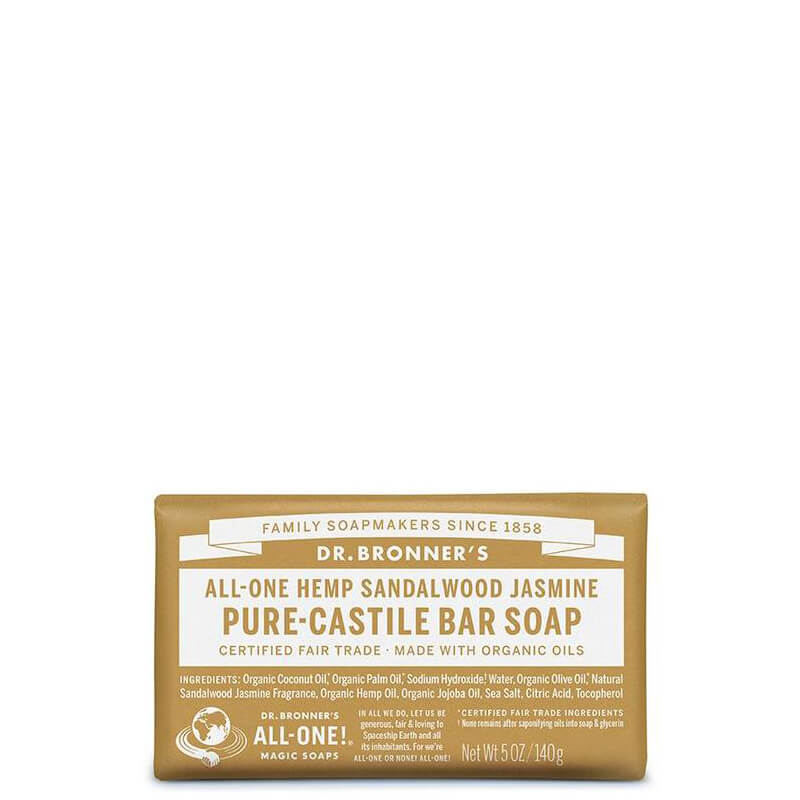 Dr Bronner's Magic Pure-Castile Bar Soap - Sandalwood & Jasmine
