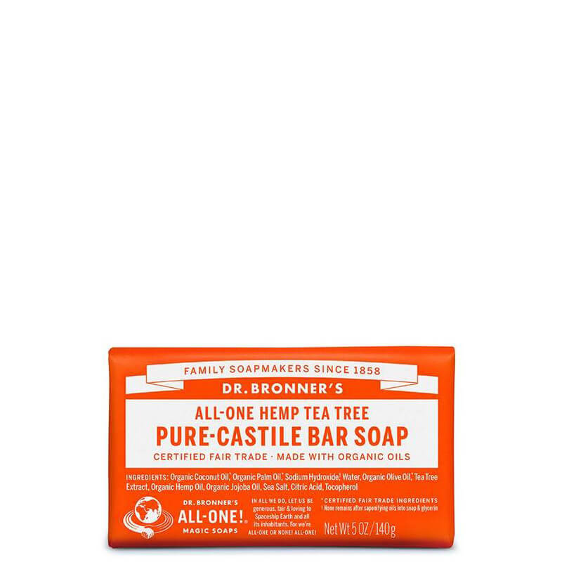 Dr Bronner's Magic Pure-Castile Bar Soap - Tea Tree