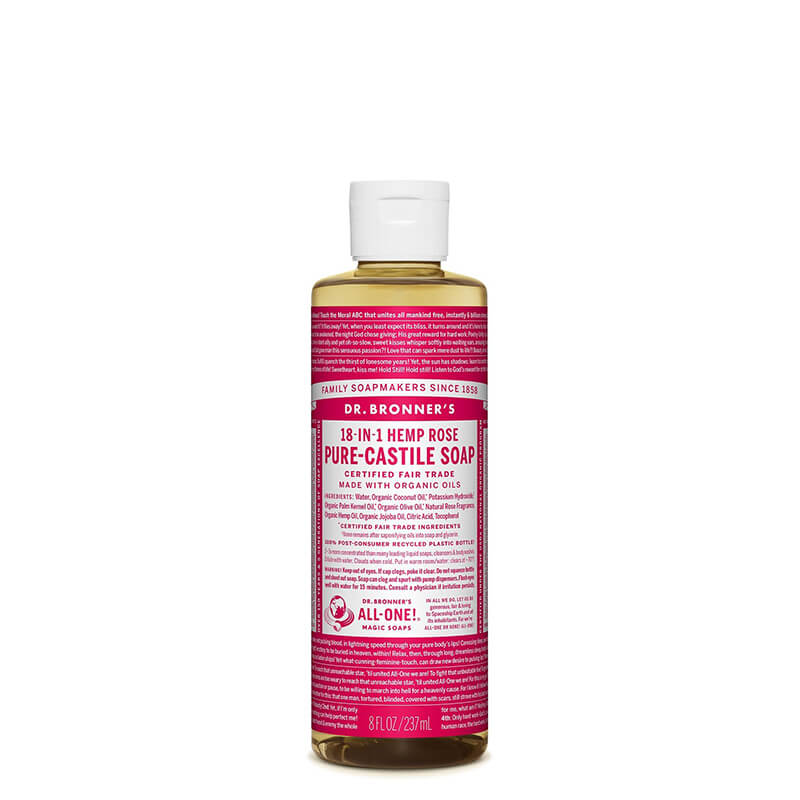 Dr Bronner's Pure-Castile Liquid Soap - Rose
