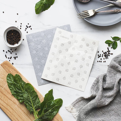 Ever Eco Sponge Cloths - Scandi Leaves