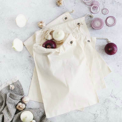 Ever Eco Organic Cotton Muslin Produce Bags - 4 pack - Natural Supply Co
