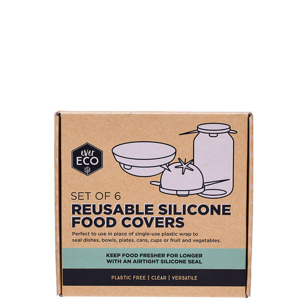 Ever Eco Reusable Silicone Food Covers - set of 6 online at Natural Supply Co