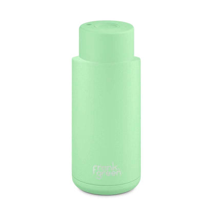 Frank Green Ceramic Reusable Bottle (1 litre) Mint Gelato