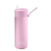 Frank Green Ceramic Reusable Bottle (595ml) Straw Lid Lid Lilac Haze