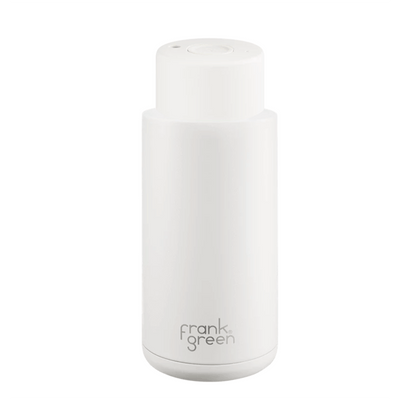 Frank Green Ceramic Reusable Bottle (1 litre) Cloud White