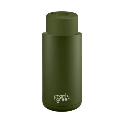 Frank Green Ceramic Reusable Bottle (1 litre) Khaki