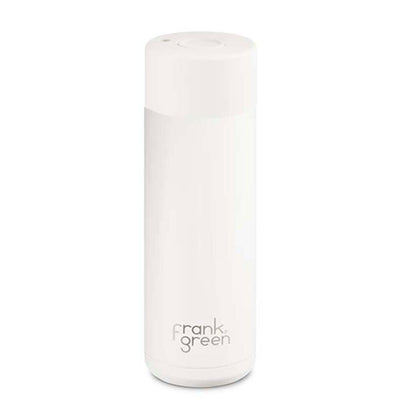 Buy White Frank Green Ceramic Reusable Bottle (595ml) online Australia