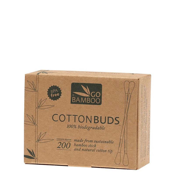 Go Bamboo Plastic Free Cotton Buds