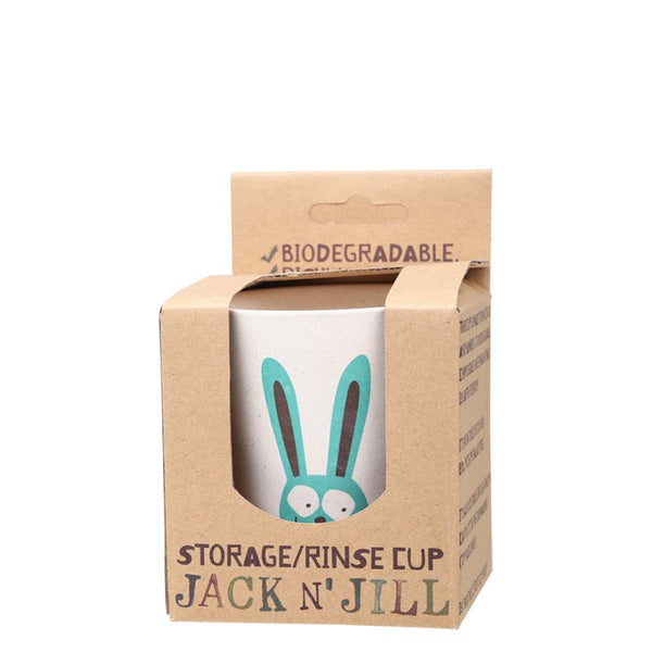 Jack & Jill Storage/Rinse Cup - Bunny at Natural Supply Co