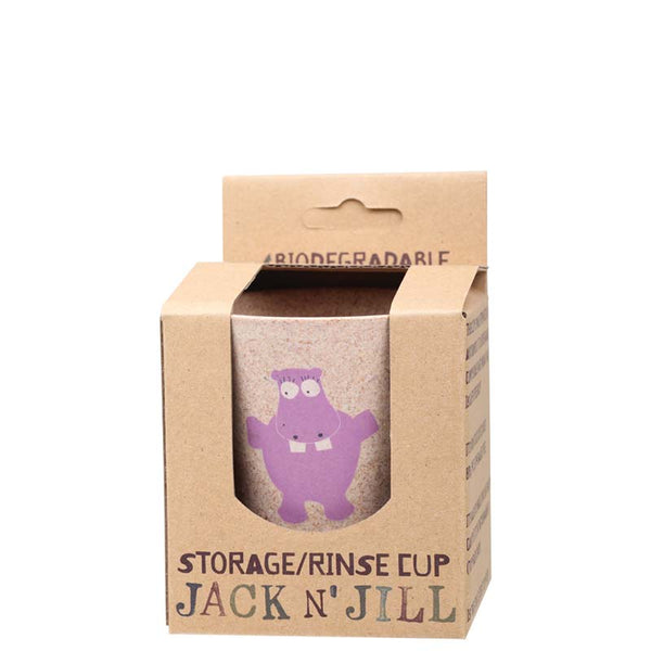 Jack & Jill Storage/Rinse Cup - Hippo at Natural Supply Co