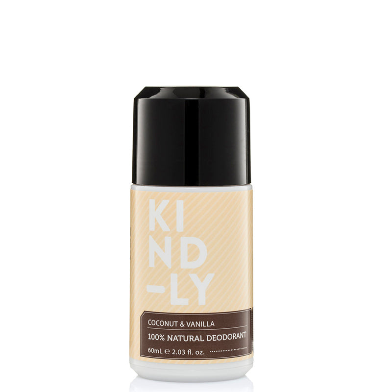 KIND-LY 100% Natural Deodorant Roll-On - Coconut & Vanilla - Natural Supply Co