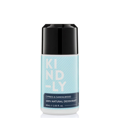 KIND-LY 100% Natural Deodorant Roll-On - Cyprus & Sandalwood - Natural Supply Co