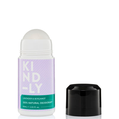 KIND-LY 100% Natural Deodorant Roll-On - Lavender & Bergamot - Natural Supply Co