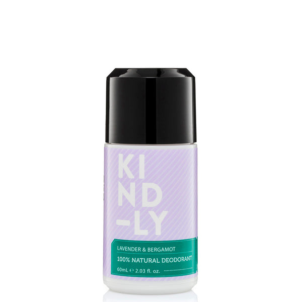 KIND-LY 100% Natural Deodorant Roll-On - Lavender & Bergamot at Natural Supply Co