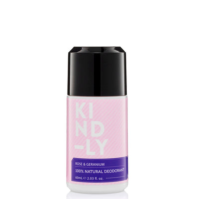 KIND-LY 100% Natural Deodorant Roll-On - Rose & Geranium at Natural Supply Co